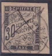 Taxe 30c Noir Saint André Réunion Et Plume - Postage Due