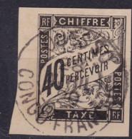 Taxe 40c Ouesso Congo Francais - Taxes