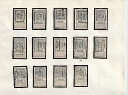 Preo Roulette - LIEGE 1895 - 1907 - 14pcs. - Unclassified