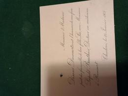 Faire Part Fiancailles  25.01.1905 -  Familles Disant Duwaerts Et Bauthier De Ransart Charleroi - Engagement