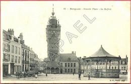 Bergues (59) - Grande Place - Le Beffroi (Circulé En 1904) - Bergues