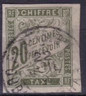 Taxe 20c Oubangui Chari Fort Sibut - Taxes
