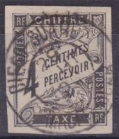 Taxe 4c Noir Diego Suarez Madagascar - Postage Due