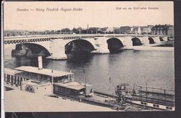 "Dresden König Friedrich August - Brücke ,  Dampfer "" Kaiser Wilhelm II.  "" - Dresden"