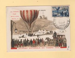 Algerie - Carte Maximum - Sidi Bel Abbex - Journee Du Timbre - La Poste Par Ballon 1870-71 - Briefe U. Dokumente