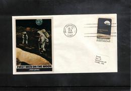 USA 1969 Space / Raumfahrt  Apollo 11 First Men On The Moon Interesting Cover - Verenigde Staten