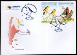 Argentina - 2008 - FDC - Oiseaux - Tordo Amarillo - Loica Común - Zonder Classificatie