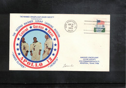 USA 1969 Space / Raumfahrt  Apollo 12 Man On The Moon Interesting Cover - Verenigde Staten