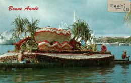 CPM - TAHITI - District De PUEU Lauréat 1967 Concours De Pirogues Fleuries ... - Tahiti