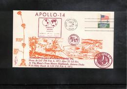 USA 1971 Space / Raumfahrt  Apollo 14 Man On The Moon Interesting Cover - Verenigde Staten