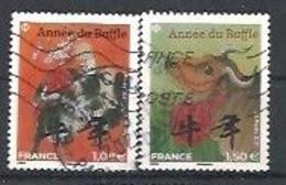 FRANCIA 2021 - Année Du Buffle - Cachet Rond Et Frisé - Used Stamps