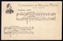 Postal Antigo Portugal: NICOLINO MILANO Composições (Edição Neuparth). Compositor Do Hino De PERNAMBUCO E PARÁ Brasil - Music And Musicians
