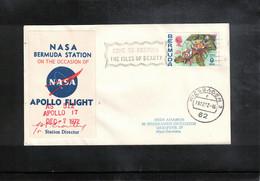 USA + Bermuda 1972 Space / Raumfahrt  Apollo Bermuda Earth Station Interesting Cover - Verenigde Staten
