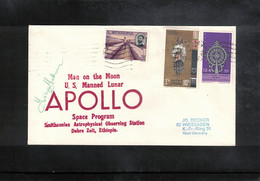 USA + Ethiopia 1972 Space / Raumfahrt  Apollo Observing Earth Station Debre Zeit Ethiopia Interesting Cover - Verenigde Staten
