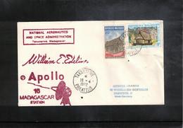 USA + Madagaskar 1972 Space / Raumfahrt  Apollo 16 Madagaskar Earth Station Interesting Cover - Verenigde Staten