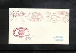 USA + Ecuador 1972 Space / Raumfahrt Earth Station Quito Ecuador Interesting Cover - Verenigde Staten