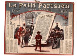 Calendrier Le Petit Parisien 1887  Prime Gratuite   Imprimeur Champenois - Big : ...-1900