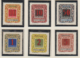 MOÇAMBIQUE CE AFINSA PORTEADO 51/56 - NOVO (Nº 51, 52 E 53 COM CHARNEIRA) - Mosambik
