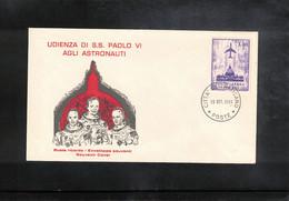 Vatican / Vatikan 1969 Space / Raumfahrt Visit Of American Astronauts By The Pope Paul VI Interesting Cover - Europa