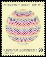 2015 Liechtenstein International Year Of Light Odd Stamp Perfin Like Joint Issue MNH** MiNr. 1746 - Nuovi