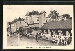 CPA Villersexel, Place De La Fontaine - Non Classés
