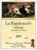Etiquette Vin De Suisse Canton De Vaud ,LA  RANDONNEE  Sussy Appellation D'origine 1997 SUSSY SUR MORGES-1- - Chevaux
