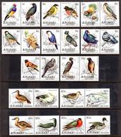 AITUTAKI - 1981 BIRDS SHORT SET IN PAIRS TO 30c (20V) FINE MNH ** SG 317-340 - Aitutaki