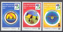 Trinidad & Tobago Sc# 361-363 MNH 1982 Scouting Year - Trinidad Y Tobago (1962-...)