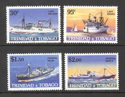 Trinidad & Tobago Sc# 430-433 MNH 1985 30c-$2.00 Ships - Trinidad Y Tobago (1962-...)