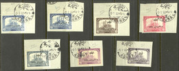 Turkey Asia Sc# 90-96 Used 1922 1pi-200pi Overprint Mosque Of Selim, Adrianople - Used Stamps