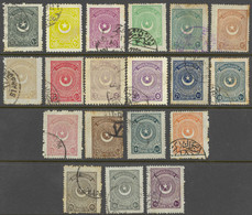 Turkey Sc# 605-622 Incl 613a Used 1923 Crescent & Star - Used Stamps