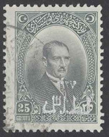 Turkey Sc# 656 Used 1927 25g Overprint Definitives - Used Stamps