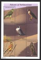 Turkmenistan Sc# 70 MNH Sheet/5 2000 Falcons - Turkmenistan
