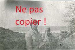 PHOTO DU 41e RIT - POILU DANS UNE TRANCHEE DE BRASSEITTE A HAN SUR MEUSE PRES DE SAINT MIHIEL - GUERRE 1914 1918 - 1914-18