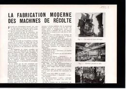 AGRICULTURE - Article - Coupure Presse - Année 1951 - 1 Page - Amouroux Frères (31) Toulouse - Machines De Récolte - Sin Clasificación