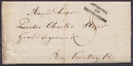 """L. Datée 3 Mai 1823 De BRUGES Du Gouverneur De Flandre Occidentale Pour KORTRIJK - Cachet """"GOUVERNEUR / VAN / WEST-VLAAN - 1815-1830 (Dutch Period)"""