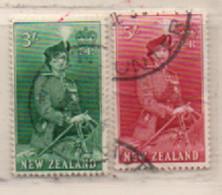 Neuseeland 1954 MiNr.:343; 344 Elisabeth II Gestempelt New Zeeland Used Scott: 299; 300 Yt: 338; 339 Sg: 734; 735 - Gebraucht