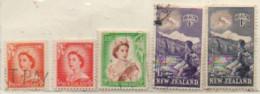 Neuseeland 1954 MiNr.:333; 336; 340; 346/47 Gestempelt New Zeeland Used Yt: 328; 331; 335; 341/42 - Gebraucht