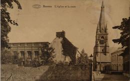 Boussu // Eglise Et La Cure 1937 Vlek - Boussu