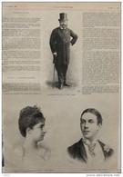 Le Marquis De Caux - Le Duc De Luynes - La Duchesse De Luynes - Page Original 1889 - Historical Documents