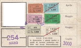 ABBONAMENTO BUS NAPOLI 1979-80 -cattivo Stato (MK271 - Europe