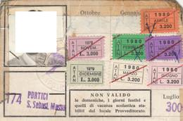 ABBONAMENTO BUS NAPOLI 1979-80 -cattivo Stato (MK272 - Europe