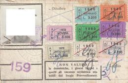 ABBONAMENTO BUS NAPOLI 1979-80 -cattivo Stato (MK273 - Europe