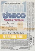 ABBONAMENTO NAPOLI FEBBRAIO 2001 -non Perfetto (MK274 - Europe