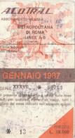 ABBONAMENTO ACOTRAL ROMA BUS METRO GENNAIO 1987-cattivo Stato (MK278 - Europe