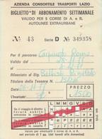 BIGLIETTO ABBONAMENTO SETTIMANALE LAZIO 1977 (MK282 - Europe