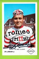 Gilbert DE SMET, Autographe Manuscrit, Dédicace . 2 Scans. Roméo Smiths  (1966 ? ) - Cycling