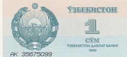 BANCONOTA UZBEKISTAN 1 UNC (MK399 - Uzbekistan
