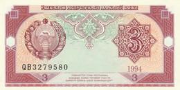BANCONOTA UZBEKISTAN 3 UNC (MK400 - Uzbekistan