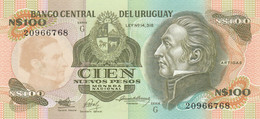 BANCONOTA URUGUAY 100 UNC (MK578 - Uruguay